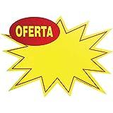Cartaz Para Marcacao Splash Oferta Gd 276x200mm.Amarelo , Pacote com 10 Grespan, Multicor