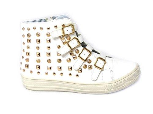 SKO'S mode 15 White pour femme 5213 Baskets xxqwrA4T