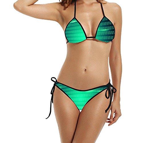 Burberry 2 Piece (Hotgirl4 Women Green Number Bikini Black Size One Size)