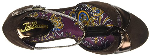 Joe Browns Damen Gatsby Vintage T-Bar Shoes Braun (Schokolade)