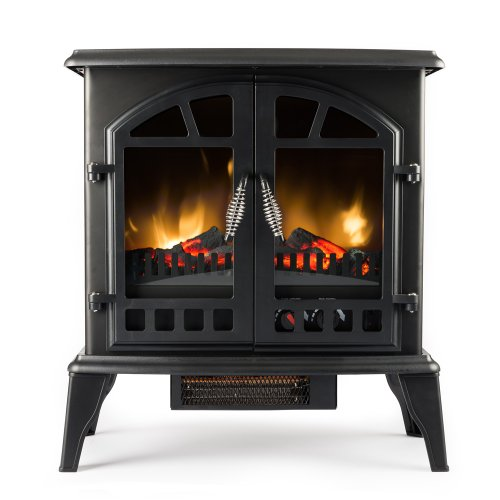 Amazon.com: Jasper Free Standing Electric Fireplace Stove - 25 Inch Black  Portable Electric Vintage Fireplace with Realistic Fire and Logs. - Amazon.com: Jasper Free Standing Electric Fireplace Stove - 25