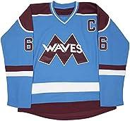 Custom Gordon Bombay #66 Minnehaha Waves Mighty Ducks Movie Jersey