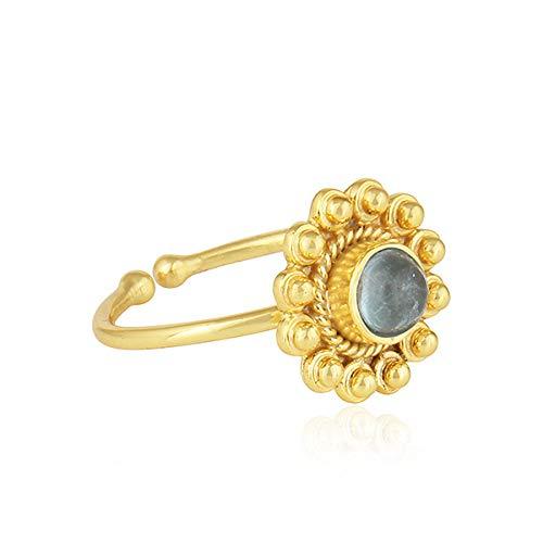 Handmade 925 Sterling Silver Apatite Designer Ring ()