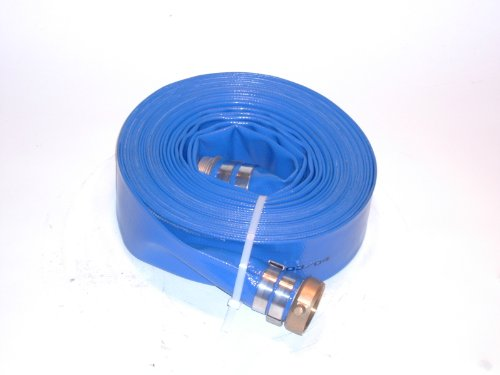 JGB Enterprises A008-0486-3550 Eagle Hose Eagleflo Eagle PVC Discharge Hose Assembly, Blue, 3