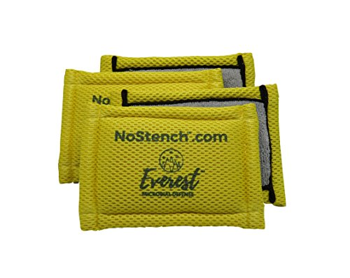 Everest Kitchen - NoStench Scrubbing Sponge by Everest Microbial Defense | Durable Antibacterial Microfiber Mesh and Terry Cloth, No Odor, Antimicrobial | Germ-Free Lifestyle Product | 4 Pack | 90 Day Guarantee