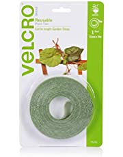 VELCRO Brand ONE-WRAP Garden Ties - Reusable and Adjustable Plant Support - 12mm x 9m - Green