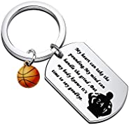 WSNANG Kobe Motivational Gift Mamba Out Keychain Basketball Star Memorial Jewelry Basketball Lovers Gift Black