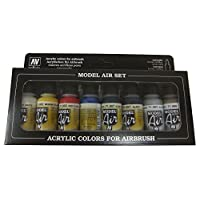 Vallejo Model Air Set de couleurs de peinture basic pour air brush – Couleurs assorties (Lot de 8)