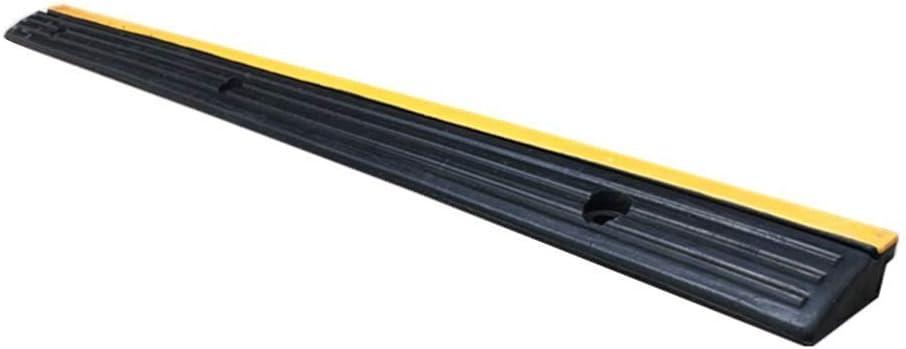 DJSMxpd Triángulo de Goma Almohadillas para sillas de Ruedas en el Camino Servicio de Auto Rampa Conveniencia Acera rampas, 98 * 7.5 * 3cm