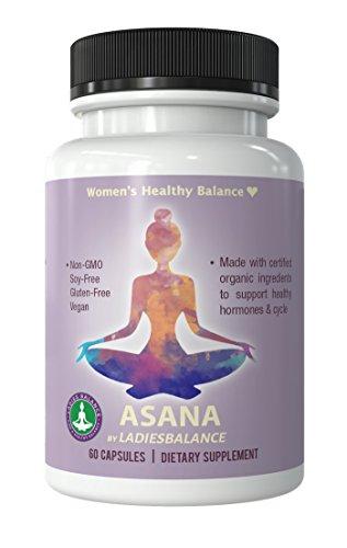 Asana By Ladies Balance Maca   Vitex   Green Tea Womens Hormone Balance Supplement 60 Ct