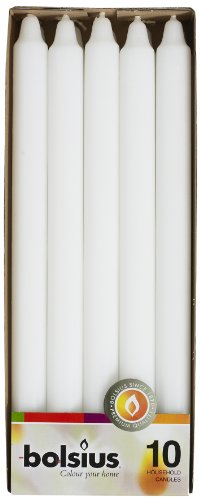 Bolsius Household Candles Box 10, White ()