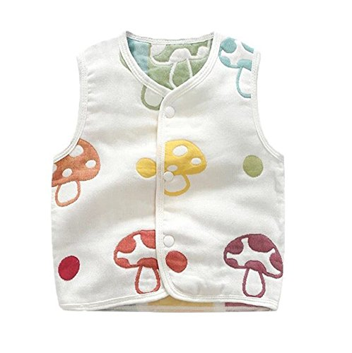 Luyusbaby Infant Baby Outwear Vests Colorful Guaze Reversible Waistcoat 6-9 Months by Luyusbaby (Image #5)