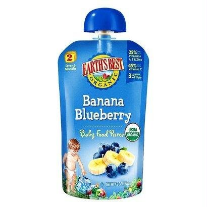 Earths Best Baby Pouch Blueberry Banana, 4 oz