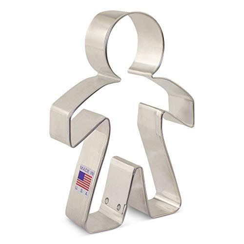 Boy Cookie Cutter - Boy/Paper Chain People Cookie Cutter - 5 Inch - Ann Clark - USA Made Steel