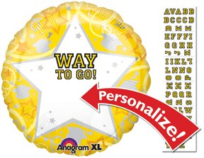 PERSONALIZE! YELLOW CLASS OF 2015 GRADUATION Balloons Decorations Supplies Party
