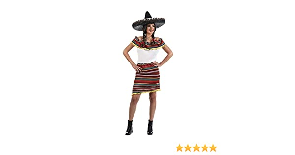 Limit Sport Disfraz de Mexicana a Rayas para Mujer: Amazon.es ...