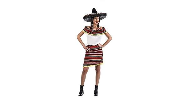 Limit Sport Disfraz de Mexicana a Rayas para Mujer: Amazon.es ...
