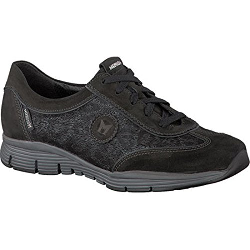 Mephisto Women's Yael Oxford, Black Greta/Dark Grey Magic, 7 M US ()