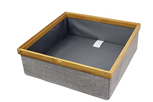 Twill Stackable Closet Open Tray Drawer and Closet Storage Bin