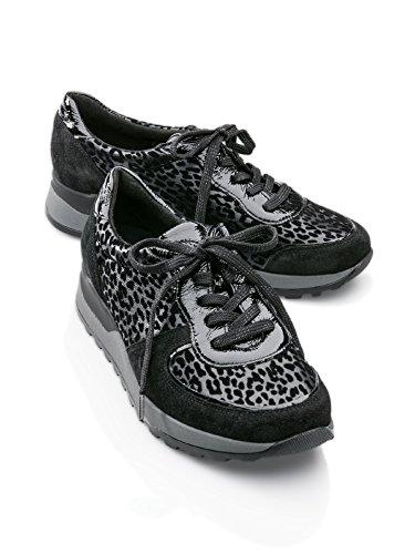 Avena Damen Waldläufer-Prophylaxe-Sneaker Schwarz Gr. 4,5