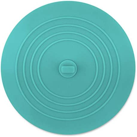 Cuttte シリコン浴槽ストッパー 6インチ 大型排水ストッパー フラット吸引排水カバー シンクストッパー 排水プラグ キッチンシンクとバスタブ用 ブルー CT-CT028B
