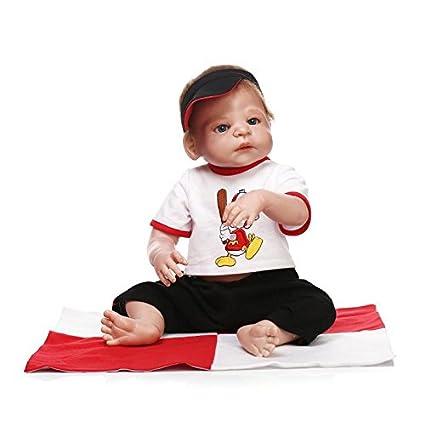 npk Collection Full Silicone Reborn Baby Dolls Anatomically Correct boy  23inches 57cm Newborn boy Alive Bath Doll Women Nursing Toy Kids Treats Doll   ... 7ef80eaec5