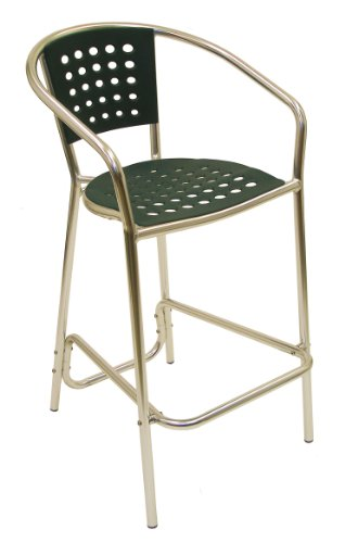 ATC South Beach Barstool with Anodized Welded Aluminum Frame, Green