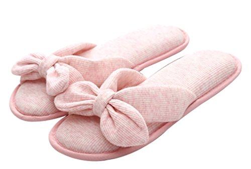 Pantofole Da Bagno Cattior Da Donna In Cotone Con Fiocco Verde Spa