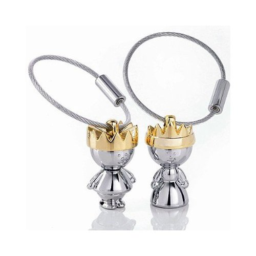 - Maycom Little King & Little Queen Couple Keychain Creative Fashion Key Chain Ring Keyring Keyfob