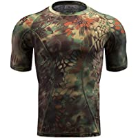 QIAOMENG Camouflage Tactical T-Shirts Short Sleeve for...