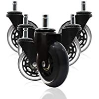 ValueHall 5 pcs Office Chair Caster Chair Replacement Wheels Swivel Casters revolving Chair casters for Office School…