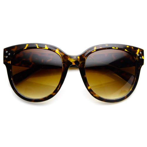 zeroUV - Womens Large Oversized Fashion Horn Rimmed Sunglasses - Sunglasses Audrey