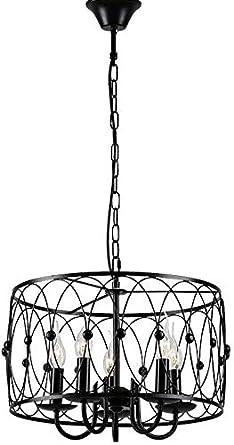 Zenghh Techo Hueco luz pendiente vela negro forjado alambre de ...