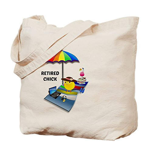 - CafePress - Retired Chick 2015 - Natural Canvas Tote Bag, Cloth Shopping Bag