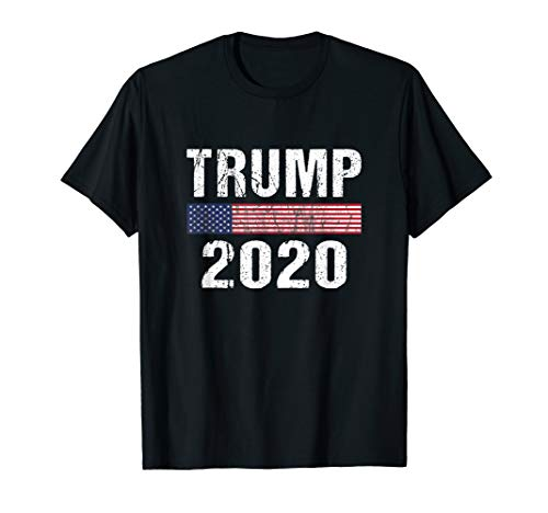 (Vintage Trump 2020 Shirt with Cool Distressed Text)