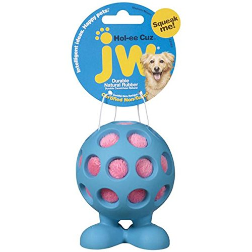 Jw Pet Rubber Balls - JW Pet Company Hol-Ee Cuz Medium Dog Toy, Colors Vary
