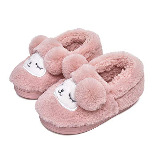 OCEAN-STORE Toddler Baby Kids Girls Boys 2.5-10 Years Cartoon Dog Slippers Warm Indoors Shoes