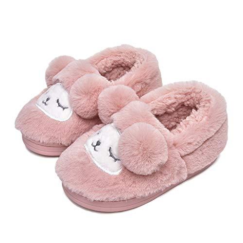 Baby Kids Girls Boys 2.5-10 Years Cartoon Dog Slippers Warm Indoors Shoes ()