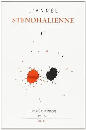 En ligne L'année Stendhalienne pdf