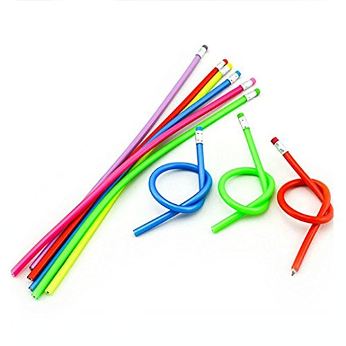Haawooky 36 Pcs Colorful Magic Bendy Flexible Soft Pencil with Eraser Kids Children School Fun Equipment ()