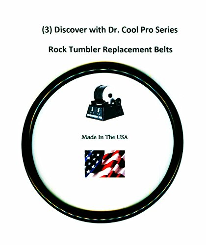 - Replacement Drive Belts for Dr. Cool Pro Series Rock Tumbler- 3 pack