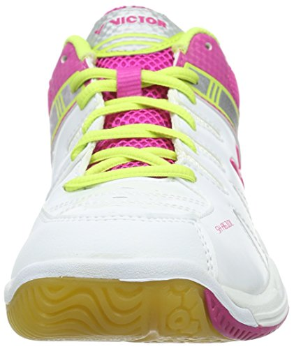 Pink Adulte Blanco Sh Blanc Victor Badminton a610l de Chaussures Rose Mixte vygwOR