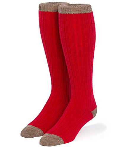 (Warrior Alpaca Socks - Unisex Colorblock Long John Alpaca Wool Socks (Medium,)