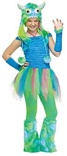 Teen Blue Beastie Monster Costume -
