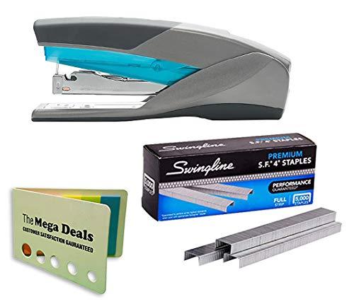 - Swingline Stapler, Optima 25, Full Size Desktop Stapler, 25 Sheet Capacity, Reduced Effort, Blue/Gray | Swingline Staples, S.F. 4, Premium, 1/4
