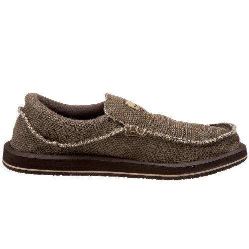 Big amp; Shoe Men's Brown Sanuk Slip Tall Chiba on EtwaU