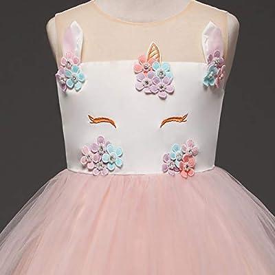 TTYAOVO Baby Girls Unicorn Costume Halloween Birthday Party Princess Dress: Clothing