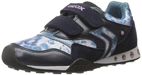 Geox JR New Jocker 31 Sneaker (Toddler/Little Kid/Big Kid), Dark Navy/Octane, 31 EU(13 M US Little Kid)
