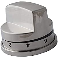 Ximoon Replacement EBZ37189611 Stove Range Stainless Knob for LG & Kenmore AP4447911, PS3534129