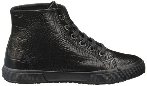 Sneakers Alte Superleghe 2095 Croco Total Black Nere